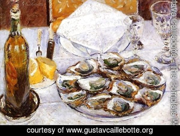 Gustave Caillebotte - Still Life With Oysters