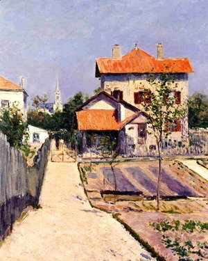 Gustave Caillebotte - The Artists House At Petit Gennevilliers