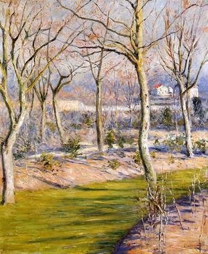 Gustave Caillebotte - The Garden At Petit Gennevilliers In Winter