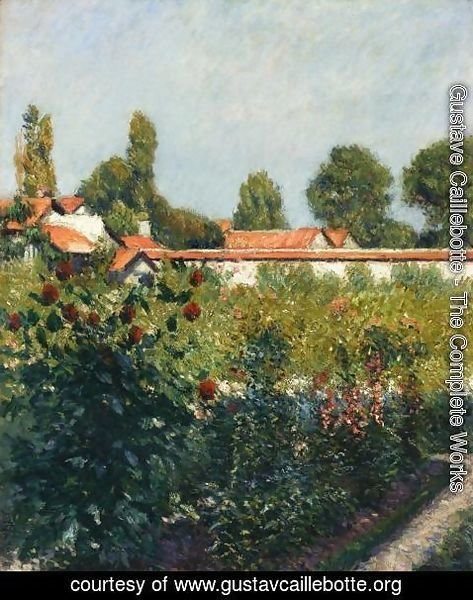 Gustave Caillebotte - The Garden Of Petit Gennevillers  The Pink Roofs