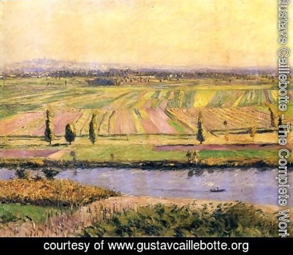 Gustave Caillebotte - The Gennevilliers Plain  Seen From The Slopes Of Argenteuil