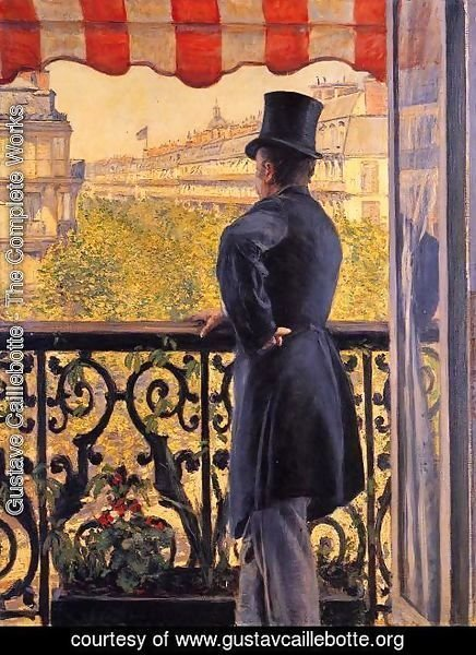 Gustave Caillebotte - The Man On The Balcony