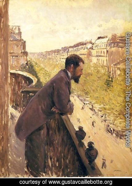 Gustave Caillebotte - The Man On The Balcony2