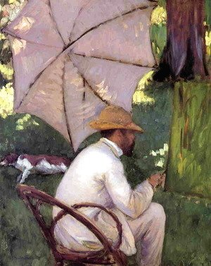 Gustave Caillebotte - The Painter Under His Paraso