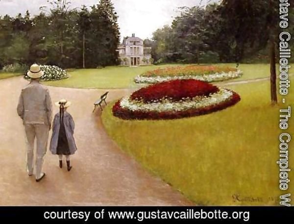 Gustave Caillebotte - The Park On The Caillebotte Property At Yerres
