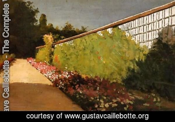 Gustave Caillebotte - The Wall Of The Kitchen Garden  Yerres