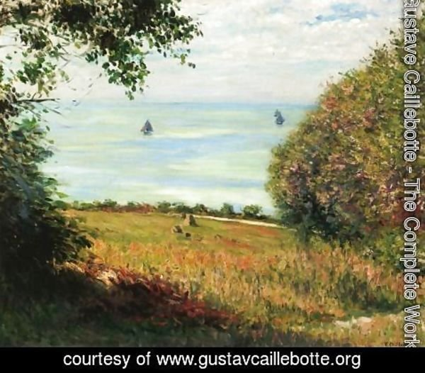 Gustave Caillebotte - View Of The Sea From Villerville Aka Sea Scape