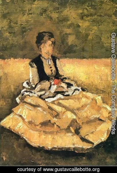 Gustave Caillebotte - Woman Seated On The Grass