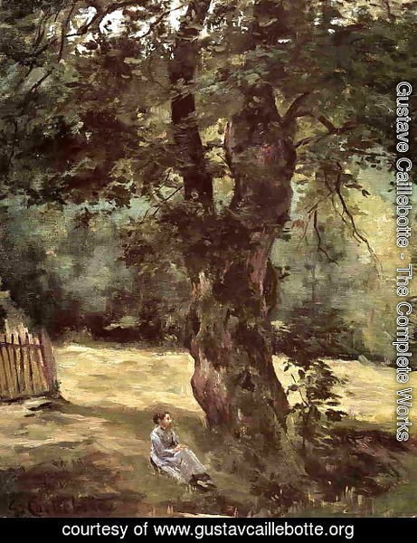 Gustave Caillebotte - Woman Seated Under A Tree
