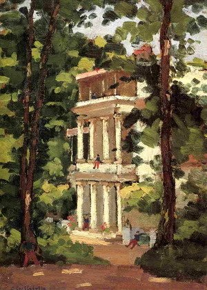Gustave Caillebotte - Yerres  Colonnade Of The Casin