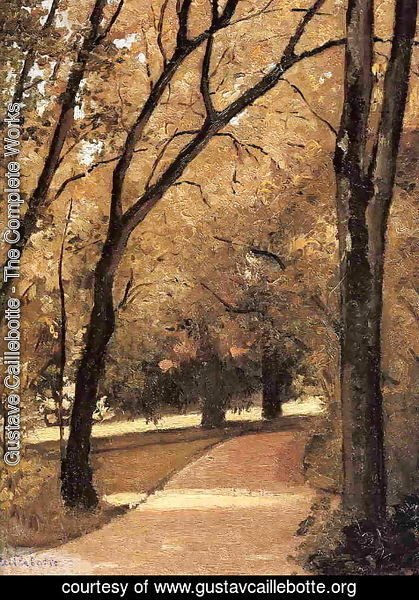 Gustave Caillebotte - Yerres  Path Through The Old Growth Woods In The Park