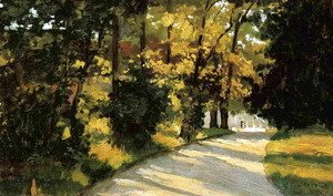 Gustave Caillebotte - Yerres  Path Through The Woods In The Park