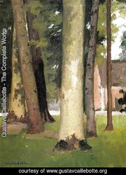 Gustave Caillebotte - Yerres  Through The Grove  The Ornamental Farm